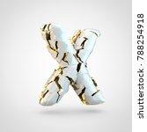 cracked letter x uppercase. 3d...   Shutterstock . vector #788254918