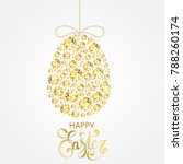 diamond easter egg decoration.... | Shutterstock .eps vector #788260174