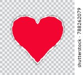 torn red paper with a heart... | Shutterstock .eps vector #788262079