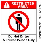 circle prohibited sign... | Shutterstock . vector #788264428