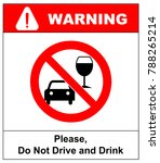 don t drink and drive sign. | Shutterstock . vector #788265214