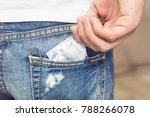 young men's jeans back pocket... | Shutterstock . vector #788266078