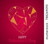 valentine day greeting card... | Shutterstock .eps vector #788269090