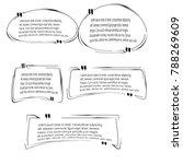 quote box bubble speech... | Shutterstock .eps vector #788269609