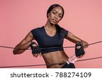 muscular young woman with... | Shutterstock . vector #788274109