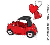 beautiful baby car. vector... | Shutterstock .eps vector #788279590