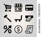 business vector icon set....   Shutterstock .eps vector #788285509