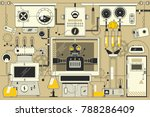 abstract futuristic electronic...   Shutterstock .eps vector #788286409
