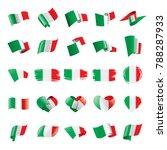 Italy Flag  Vector Illustration