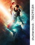 young man break dancing on... | Shutterstock . vector #788295184