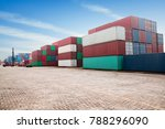 industrial container yard for... | Shutterstock . vector #788296090