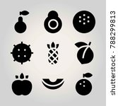 fruits vector icon set. lychee  ... | Shutterstock .eps vector #788299813