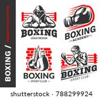 boxing logo  emblem collections ... | Shutterstock .eps vector #788299924