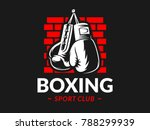 silhouette of boxing gloves... | Shutterstock .eps vector #788299939
