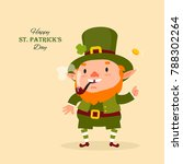 st.patrick 's day. leprechaun ... | Shutterstock .eps vector #788302264