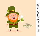 st.patrick 's day. leprechaun ... | Shutterstock .eps vector #788310160