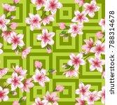 japanese cherry blossom patter...   Shutterstock .eps vector #788314678