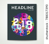 cover annual report number 2018 ... | Shutterstock .eps vector #788317390