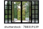 large windows black aluminum... | Shutterstock . vector #788319139