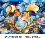 stained glass forever series.... | Shutterstock . vector #788319550