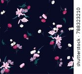 trendy  floral pattern in the... | Shutterstock .eps vector #788323210