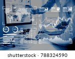 business analytics dashboard... | Shutterstock . vector #788324590