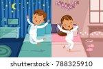 children bedroom.  boy is going ... | Shutterstock .eps vector #788325910