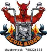 the devil riding a chopper... | Shutterstock .eps vector #788326858