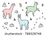 vector set of characters.... | Shutterstock .eps vector #788328748
