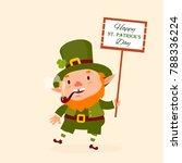 st.patrick 's day. leprechaun ... | Shutterstock .eps vector #788336224