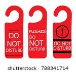 do not disturb sign  ... | Shutterstock .eps vector #788341714