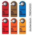 do not disturb sign  ... | Shutterstock .eps vector #788341810