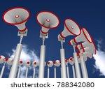megaphones on the sky...   Shutterstock . vector #788342080