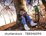 elegant child plays with a... | Shutterstock . vector #788346094