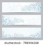 set of modern scientific... | Shutterstock .eps vector #788346268