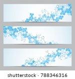 set of modern scientific... | Shutterstock .eps vector #788346316
