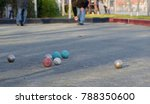 boules is a collective name for ...   Shutterstock . vector #788350600