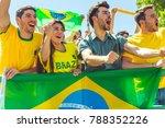 brazilian supporters... | Shutterstock . vector #788352226