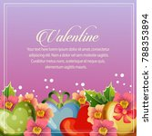 valentine card floral... | Shutterstock .eps vector #788353894