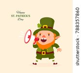 st.patrick 's day. leprechaun ... | Shutterstock .eps vector #788357860