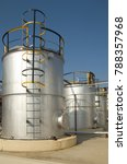 industrial tank farm with... | Shutterstock . vector #788357968