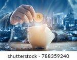 double exposure of businessman...   Shutterstock . vector #788359240