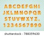 font golden symbol  gold letter ... | Shutterstock .eps vector #788359630
