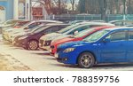parking used cars in winter | Shutterstock . vector #788359756