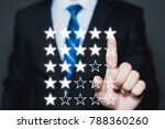 five stars  5  rating with a... | Shutterstock . vector #788360260