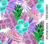 watercolor seamless pattern... | Shutterstock . vector #788360884