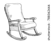 rocking chair isolated on white ... | Shutterstock .eps vector #788362666