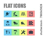 construction icons set with... | Shutterstock .eps vector #788365828