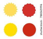 set of starburst  sunburst... | Shutterstock .eps vector #788365996