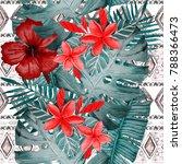 watercolor seamless pattern... | Shutterstock . vector #788366473